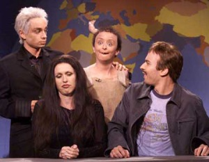 Rachel Dratch as Angelina Jolie's incest baby on SNL