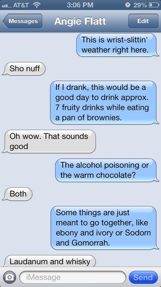 Alcohol Poisoning and Chocolate