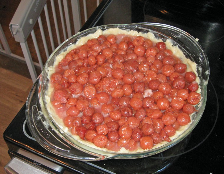 Pour the mixture into the unbaked pie crust.
